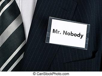 Mr. Niemand