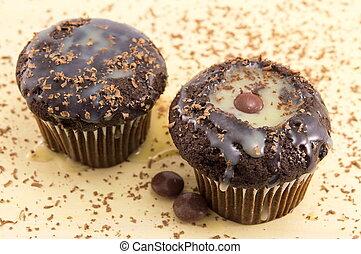 muffins, vanille, kakau
