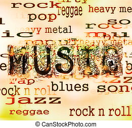 musik, hintergrund, wort, beschaffenheit