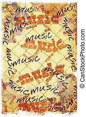 musik, hintergrund, wort