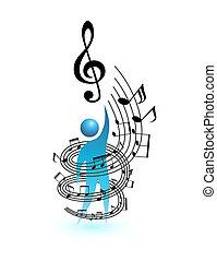 Musik-Konzept-Vektor-Leute