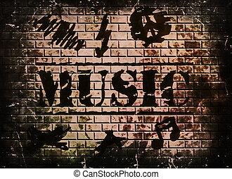 musik, wort, hintergrund