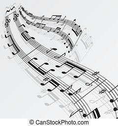 Musiknotizen winken