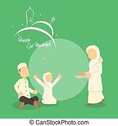 Muslimisches Familientreffen.