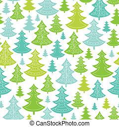muster, seamless, bäume, hintergrund, feiertag, weihnachten
