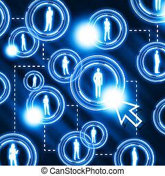 muster, vernetzung, sozial