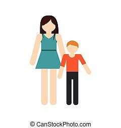 Mutter und Sohn Familientreffen.