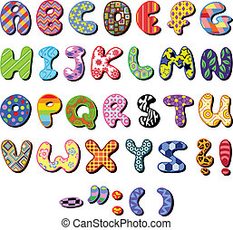 nachgebildet, alphabet