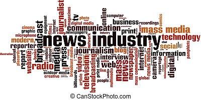 Nachrichtenindustrie-Wortwolke