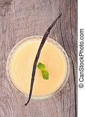 nachtisch, vanillesahne