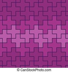 Nahelos wiederholbare abstrakte geometrische Muster, Hintergrund. Bearbeitender Vektor.