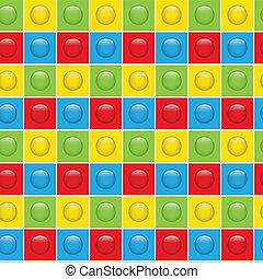 Nahmlose farbige Tasten Muster Hintergrund.