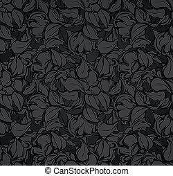Nahmloses Muster, schwarz