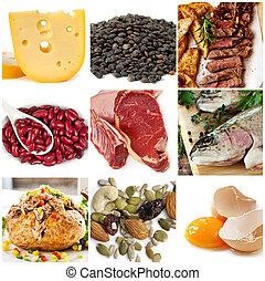 Nahrungsquellen für Proteine