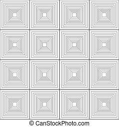 Nahtlose monochrome abstrakte Quadratmuster-Hintergrundvektor.