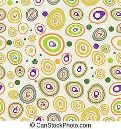 Nahtlose Muster mit handgezeichneten Quadraten.