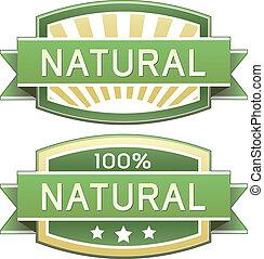 Natürliches Essen oder Produktzeichen