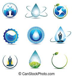 Natur- und Gesundheitsschutzsymbole