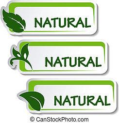 Naturaufkleber mit Blatt