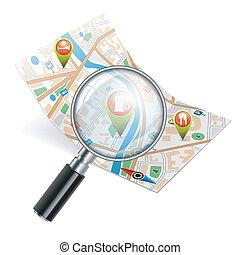 Navigationssuche-Konzept