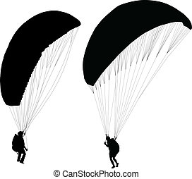 nehmen, vorher, aus, paraglider