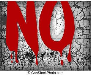 Nein, verdammtes Wort über zerschmetterten Hintergrund