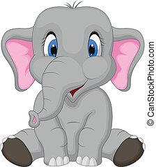Netter Elefant-Cartoon.