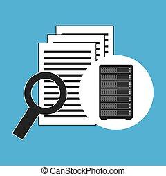 Network Server Konzept-Dokumentsuche.
