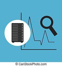 Network Server Konzept-Statistiksuche.