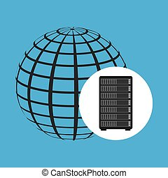 Network Server Konzept Welt.