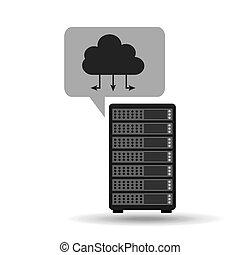 Netzwerk-Server-Konzept Cloud-Verbindung.