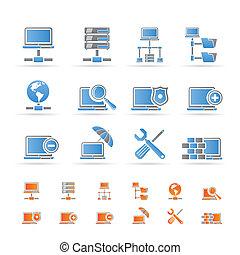 Netzwerk, Server und Ikonen
