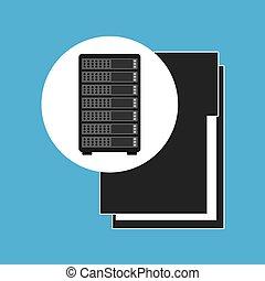 Netzwerkserver-Konzept-Dateiordner.