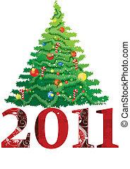 neu , 2011, weihnachtsbaum, jahr