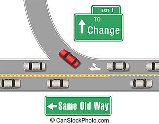 neu , autos, altes , änderung, weg