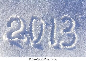 neu , glücklich, 2013, hintergrund, jahr