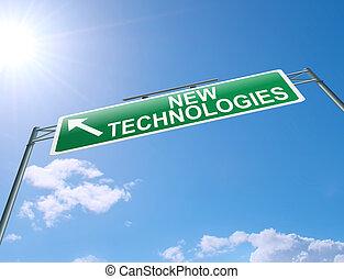 neu , technologien, concept.