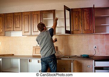 Neue Küchenschränke