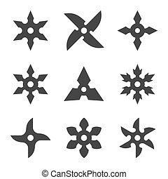 Ninja Star Icon Set