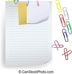 Notiz mit Büroklammervektor