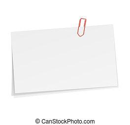 Notizen mit Papierklammer.