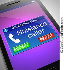 Nuisance Caller Konzept.