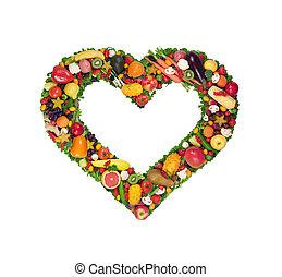 Obst- und Gemüseherz