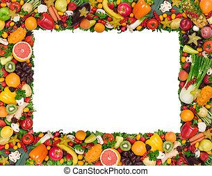 Obst- und Gemüserahmen.