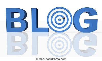 Online-Blog-Konzept