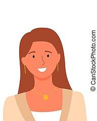 online, helfer, lächeln, berater, userpic, frau
