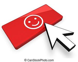 Online lächelndes Gesicht