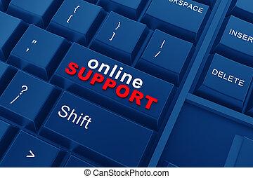 Online-Unterstützung.