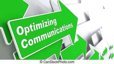 optimizing, communications., concept., geschaeftswelt