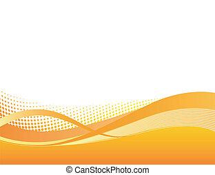 orange, dynamisch, hintergrund, swoosh